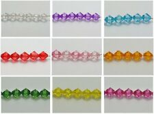 100 Transparent Acrylic Faceted Bicone Spacer Beads 12X12mm Pick Your Color