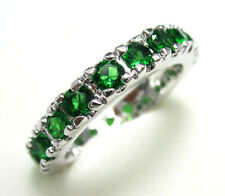 Women's Nice Jewelry Lovely 10KT White Gold Filled Emerald Ring Size:7 8 9
