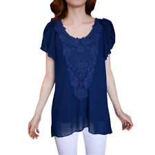 Women Scoop Neck Pullover Lining Fashionable Chic Blouse