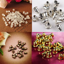 Wholesale 50/100 Earring Backs Stoppers Findings Ear Post Nuts Jewelry Findings