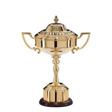 Personalised Gold Plated Golf Cup With Acorn Lid, Engraved Trophy