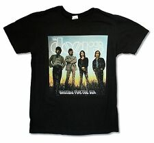 """THE DOORS """"WAITING"""" BLACK T-SHIRT NEW OFFICIAL ADULT"""