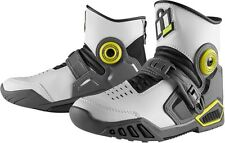 Icon White  Accelerant Motorcycle riding Street Boots