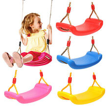 Childrens Swing Seat Toddler with Adjustable Safety Ropes Climbing Frame Outdoor