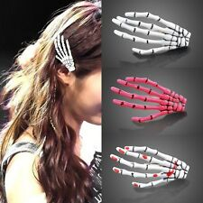 Special Halloween 2pcs Zombie Skull Skeleton Hand Bone Claw Hairpins Hair Clips