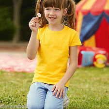 FRUIT OF THE LOOM GIRLS VALUE T-SHIRT - 100% COTTON - 12 GREAT COLOURS - SS77B