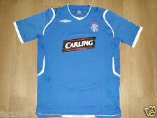 Glasgow Rangers 2008/2009 Umbro Carling Home Football Shirt Top Blue New