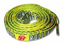 THE ROLLING STONES - TEXT LOGO AND TONGUE YELLOW SHOE / BOOT LACES NEW NWT
