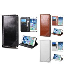 "For iPhone 6 6s 4.7"" Genuine Leather Flip Wallet Credit Card Case Cover w/ Stand"