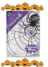 HALLOWEEN SPIDER WEB Spooky Outdoor Indoor Stretchable Cobweb Wool Decoration