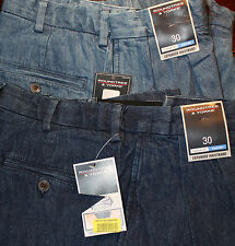 +ROUNDTREE & YORKE Blue Expander Mens Jean Shorts 30 Pleated NWT F-701 Ret. $40