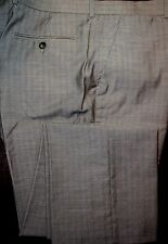 PERRY ELLIS Gray Mens Dress Pants Flat Front 32 34 36 38 NWT F-664 Ret $69.50