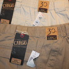 CARGO by ROUNDTREE & YORKE Mens Cargo Shorts 30 Flat Front NWT F725 Box 100