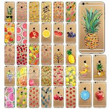 TPU Colorful Fruits Case Cover Transparent Skins For iPhone 6 6Plus 5 5S 5C 4 4S