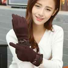 NEW Ms winter bud silk gloves Add wool warm warm female cotton gloves