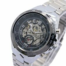 WINNER Luxury Casual Auto Mechanical Stainless Steel Band Men's Wrist Watch New