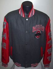 OHIO STATE BUCKEYES 8 TIME NATIONAL Championship Wool & Leather Jacket S M