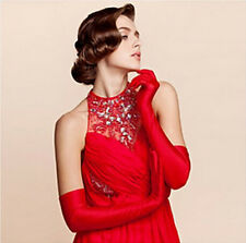 Vogue Satin Long Gloves Evening Party Opera Prom Costume Gloves Wedding Bridal