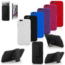 Rugged Hybrid Armor Holster Case Cover with Stand Belt Clip For iPhone 4 5s 6 6s
