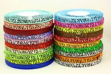 "New Style 5YDS 3/8"" Printed Zebra Grosgrain Ribbon Hair bow Diy Craft Gifts Pick"