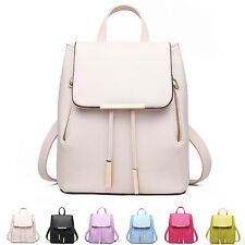 New Women Backpack Faux Leather Student School Bag Casual Rucksack Shoulder Bags