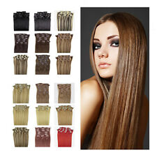 20inch Clip in Remy Real Human Hair Extensions Straight 8PCS More Colors