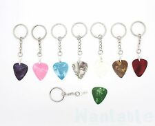 Guitar Pick Silver Keyring Quick Release Useable Plectrum Musician Gift Idea