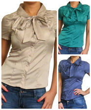 Blouse Ladies Shirt Tops Loose Short Sleeve Long Top New Size 10 12 14 16 18 20