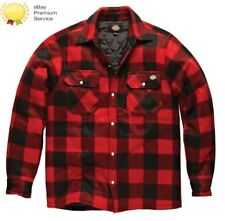 MENS DICKIES PORTLAND WORKWEAR PADDED WORK CASUAL SHIRT SH5000 RED SIZE S-XXXL
