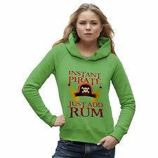 Twisted Envy Women's Instant Pirate Just Add Rum Organic Cotton Hoodie