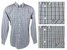 Mens Farah Shirt Long Sleeves Button Down Check