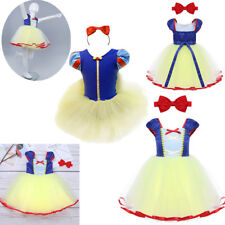 Princess Snow White Girls Christmas Dress Up Costume Ballet Tutu Leotard Clothes