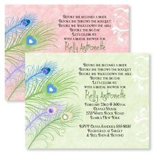 Peacock Personalized Bridal Shower Invitations Wedding Invitation Custom Cards