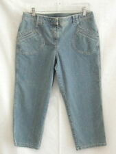 Ann Taylor LOFT Stretch Denim Capris Crop Pants NEW