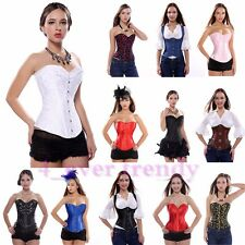 Sexy lady Lace up Spiral Steel Boned Corset Bustier Top Waist Shaper Size S-2XL