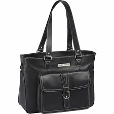 "Clark and Mayfield Stafford Pro 15.4"" Leather Laptop Tote"