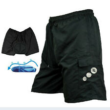 Outdoor SANTIC  Baggy Cycling Shorts Bicycle Bike MTB Leisure Pants 3D Padded
