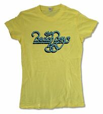 THE BEACH BOYS 50TH ANNIVERSARY GIRLS JUNIORS YELLOW T SHIRT NEW OFFICIAL TOUR