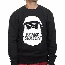 Santa Beard Christmas Xmas Gift Present Stocking Filler Mens Sweatshirt Hoodie