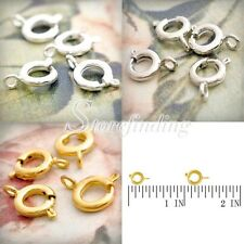 50-60pcs Jewelry Spring ring Clasp Finding 10/11mm