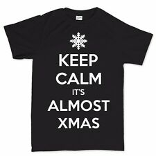 Keep Calm Its Christmas Xmas Tree Party New Gift Present T shirt Tee