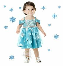 New Snowflake Princess Toddler Halloween Costume Dress