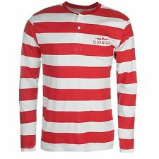 Giorgio Mens Retro Long Sleeve T Shirt Crew Tee Top Clothing Wear
