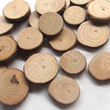 New 20/100pcs Wood Round Pads Craft Home Decoration Lots Size Vary