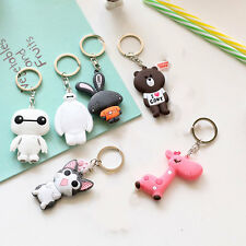 Lovely Cartoon Keyring Charm Pendant Purse Bag Key Ring Keychain Girls Boys Gift