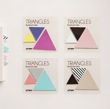 Bookmark Tabs TRIANGLES Index Mark Post-it Sticky Note Memo Pad Decor Sticker