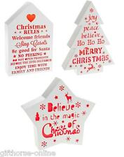Light Up Christmas Decoration Word Blocks - Choice of Home/Tree/Star Shapes