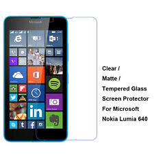 Tempered Glass/Clear/Matte Film Screen Protector For Microsoft Nokia Lumia 640