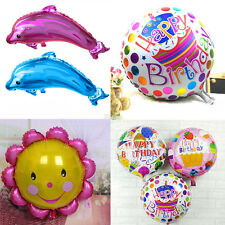 Happy Birthday foil balloon Dolphin Helium Balloon Party Decoration Child's Gift