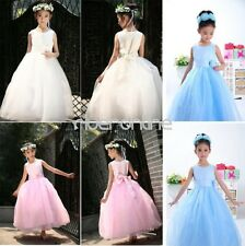 Flower Girl Pageant Party Wedding Bridesmaid Princess Kid Formal Ball Gown Dress